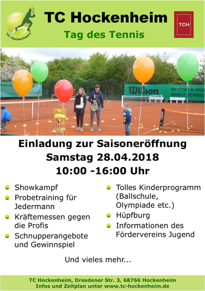 Tag des Tennis 2018