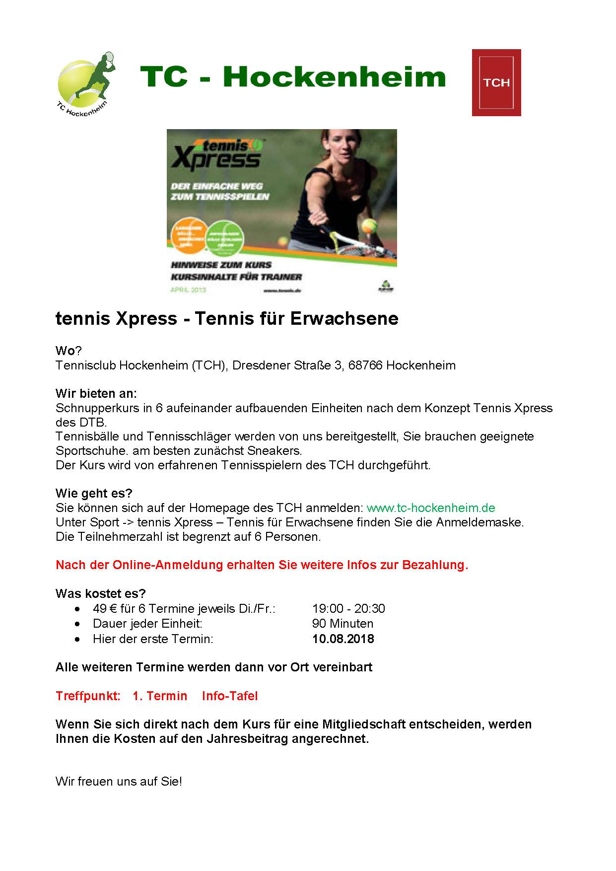 tennis Xpress Sommer 2018