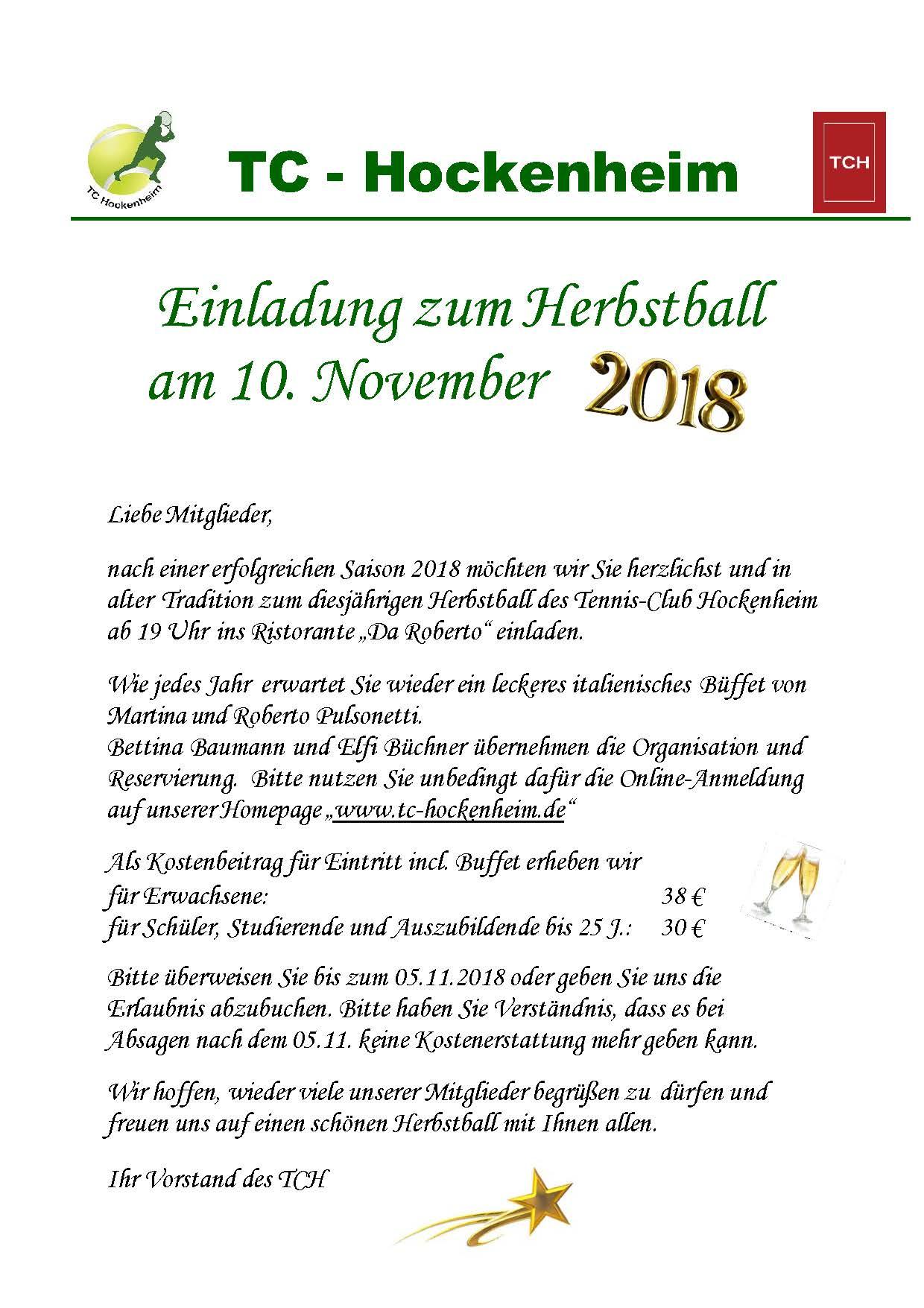 Flyer Herbstball 2018