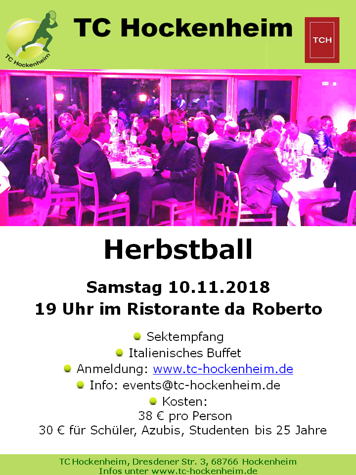 Flyer Herbstball 2018